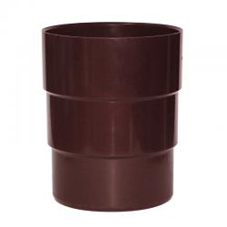 Adaptador Bajada Canaleta 80 x 75 mm café