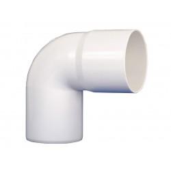 Codo Canaleta Macho / Hembra Blanco 75 mm x 87,5°
