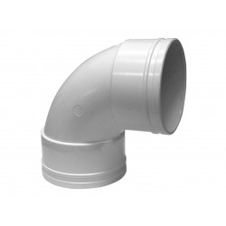 Codo Canaleta Hembra / Hembra Blanco 75 mm x 87,5°