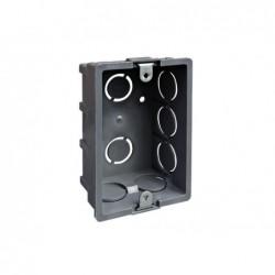 Caja eléctrica tabique con oreja metálica gris