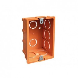 Caja eléctrica tabique con oreja metálica naranja