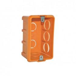 Caja eléctrica loza con oreja metálica naranja